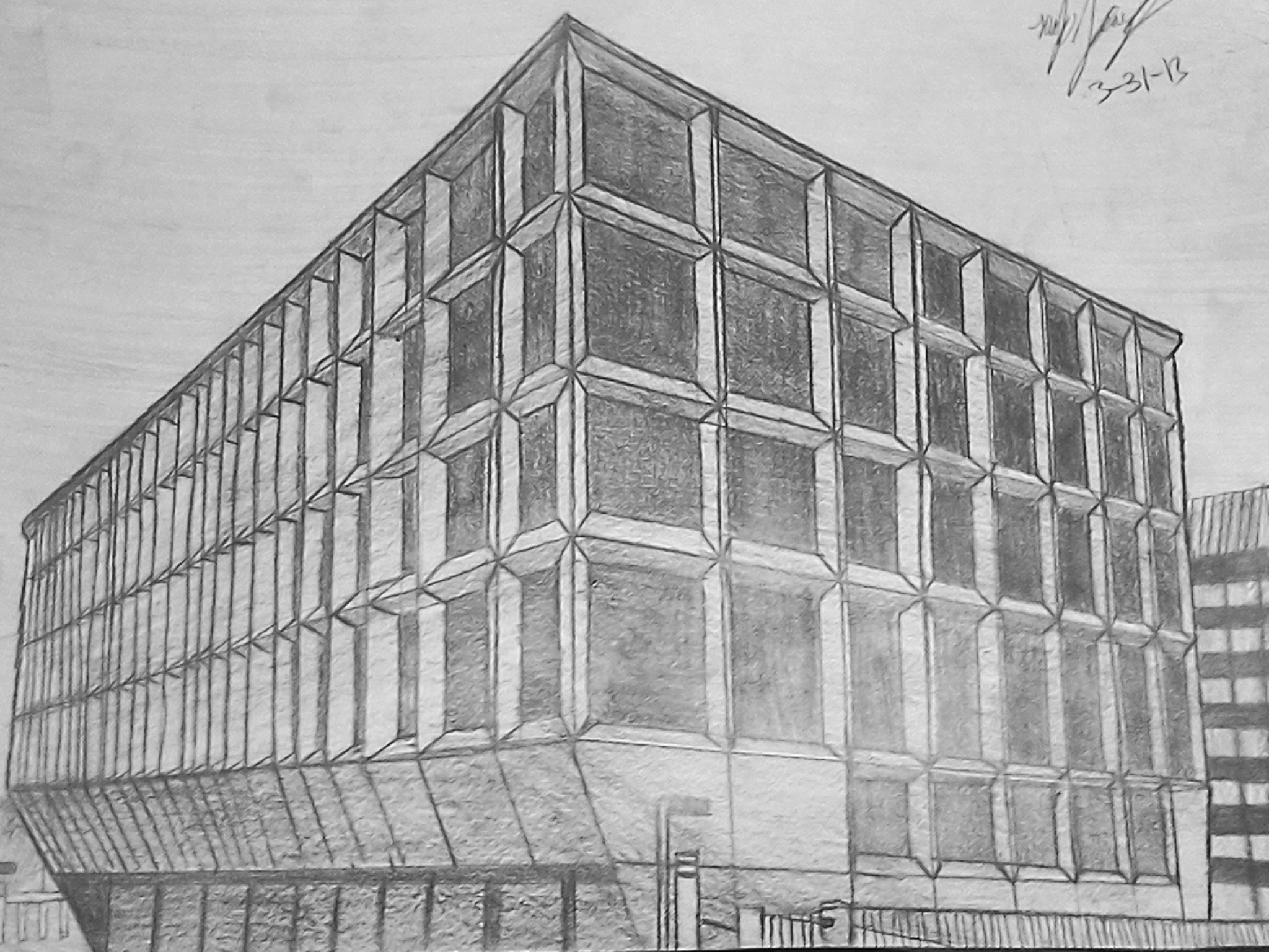 Art Building Drawings Perspective Building Drawing